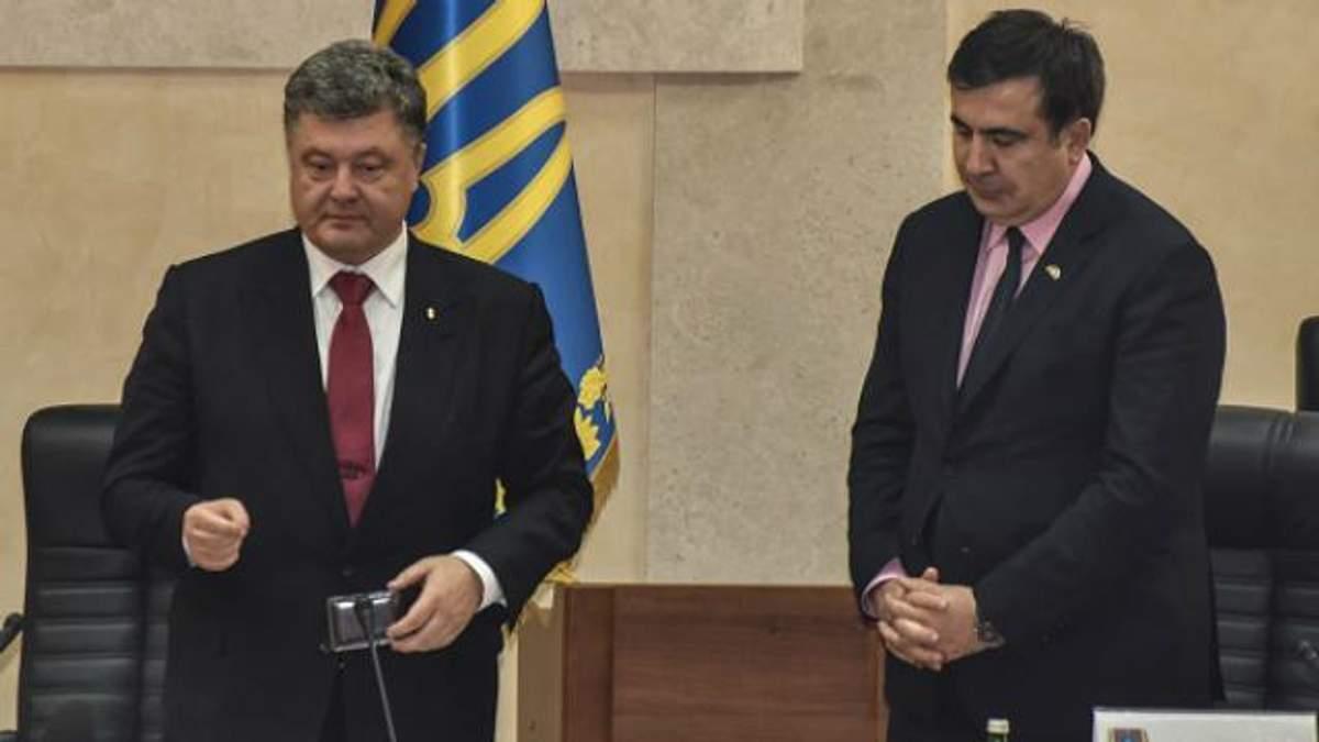 Порошенко про Саакашвілі: Я не знаю, чому він досі в Україні