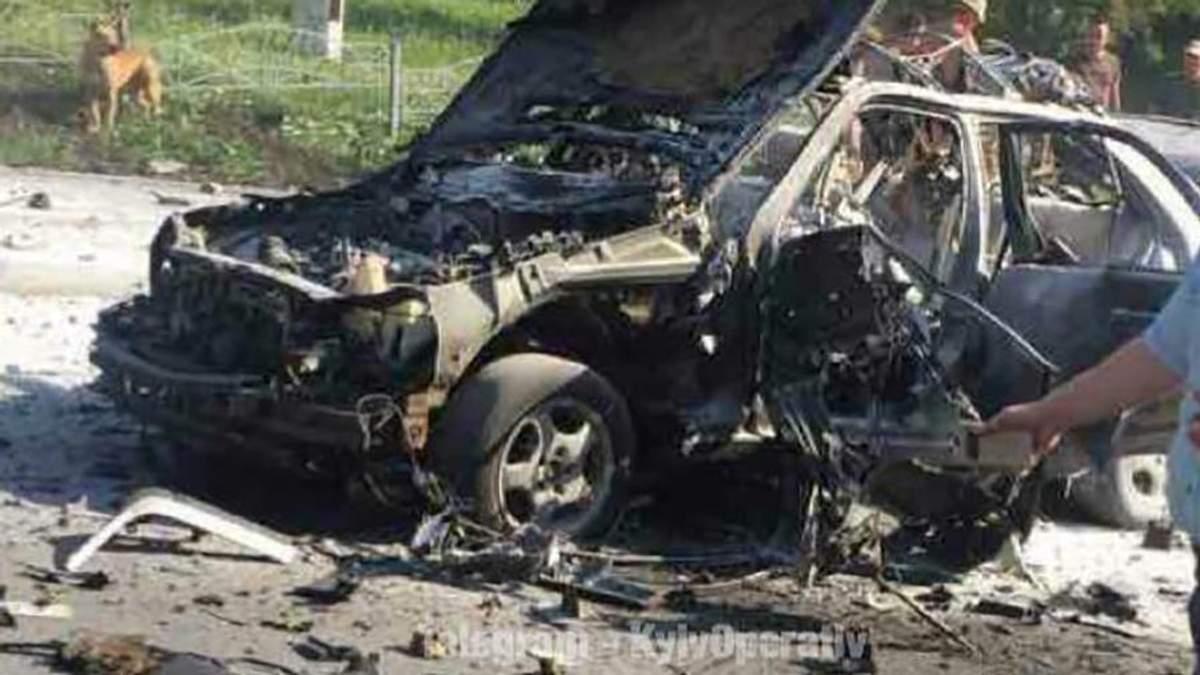 Вибух автомобіля в Києві: відео вибуху