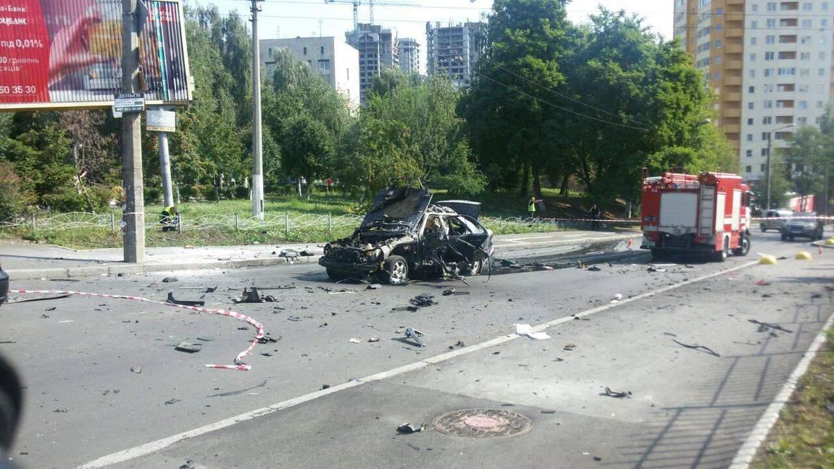 Вибух авто у Києві: в Києві загинув Максим Шаповал