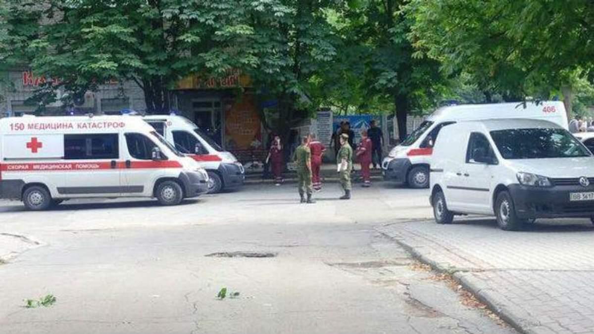 Взрыв в Луганске. Фото с места происшествия
