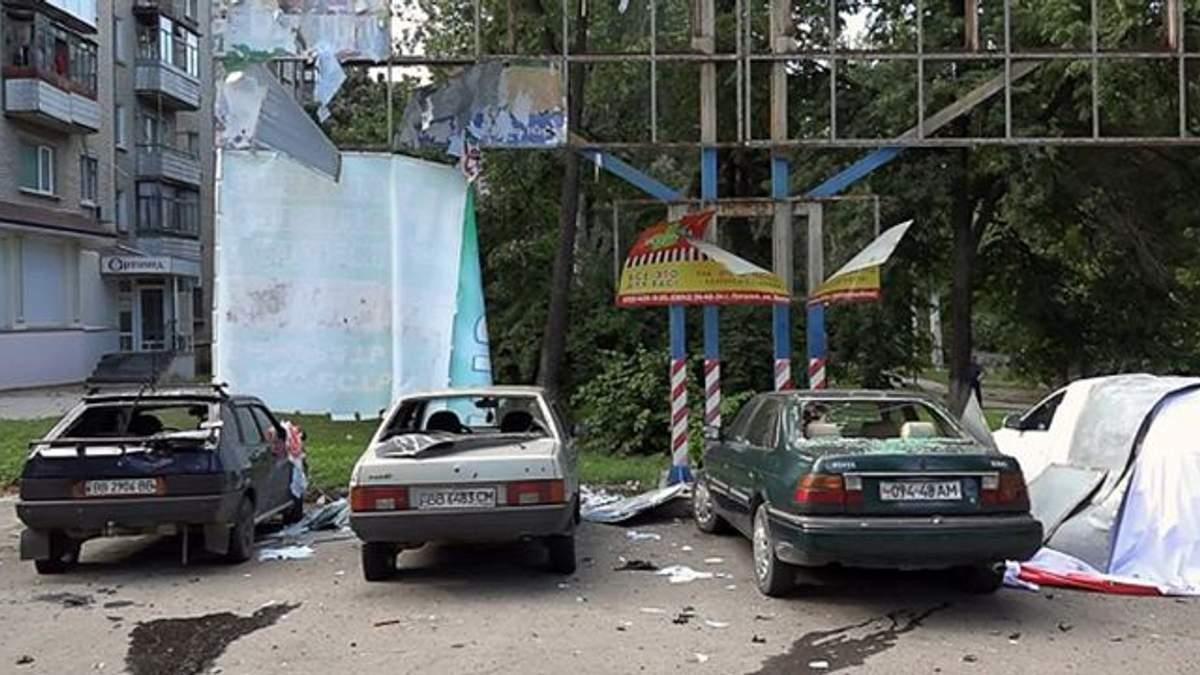 Опубликовано видео с места взрыва автомобиля в Луганске