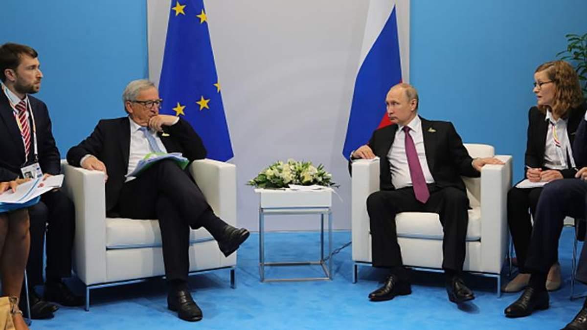 Юнкер поцеловал Лаврова и напомнил Путину о проблеме Крыма и Донбасса