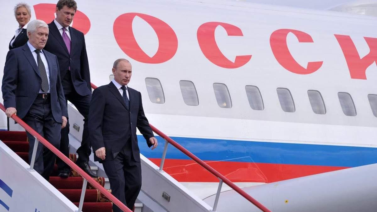 У Путина объяснили, почему его самолет направлялся по странному маршруту