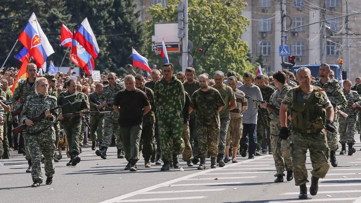 Терористи Донбасу ведуть полонених