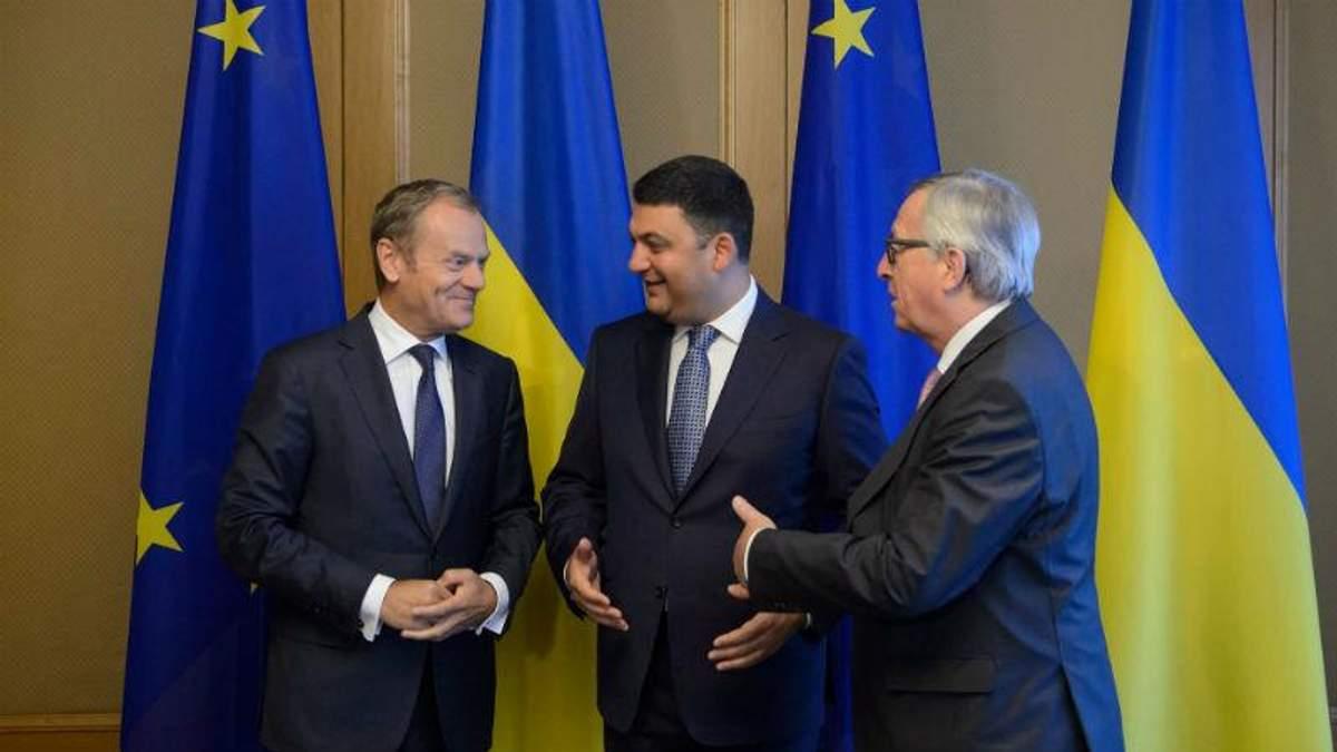 Які прохання озвучив Гройсман під час зустрічі з впливовими представниками Євросоюзу