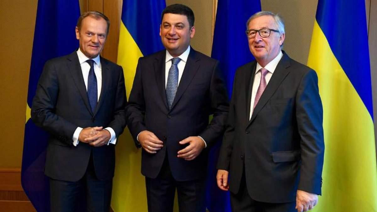 Дональд Туск и Жан-Клод Юнкер с визитом в Украине