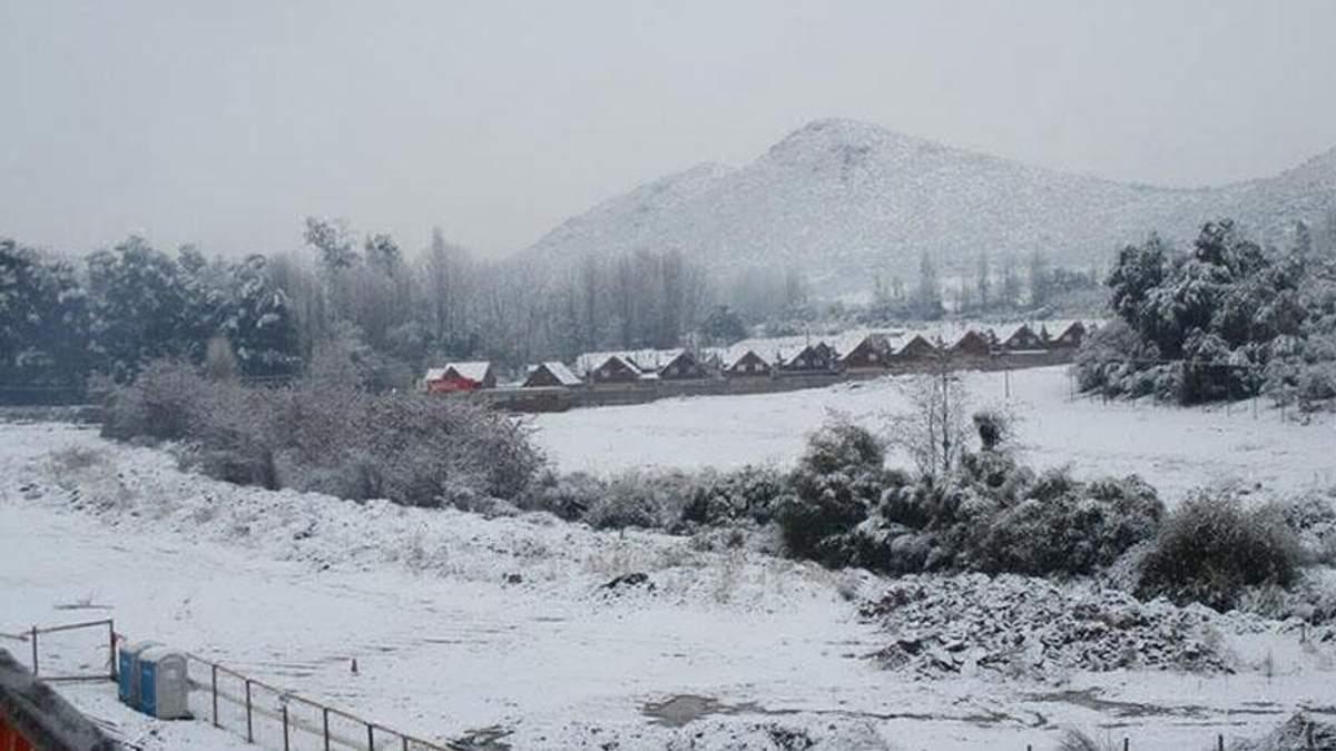 Снігопад в Чилі
