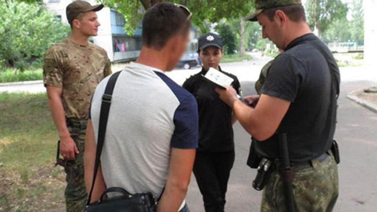 Затриманий бойовик на Донеччині