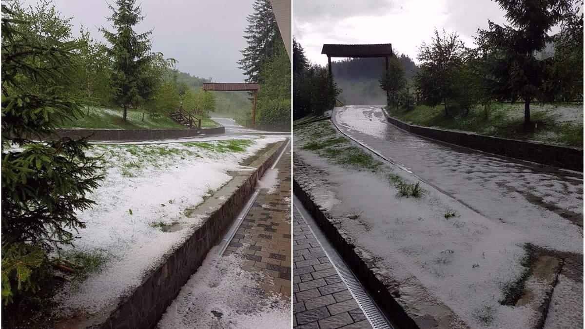 Снег на Закарпатье
