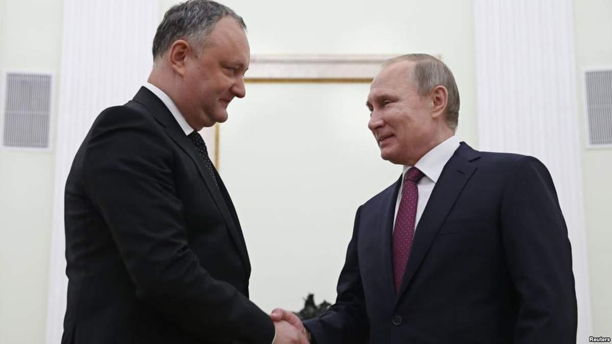 Ігор Додон і Путін