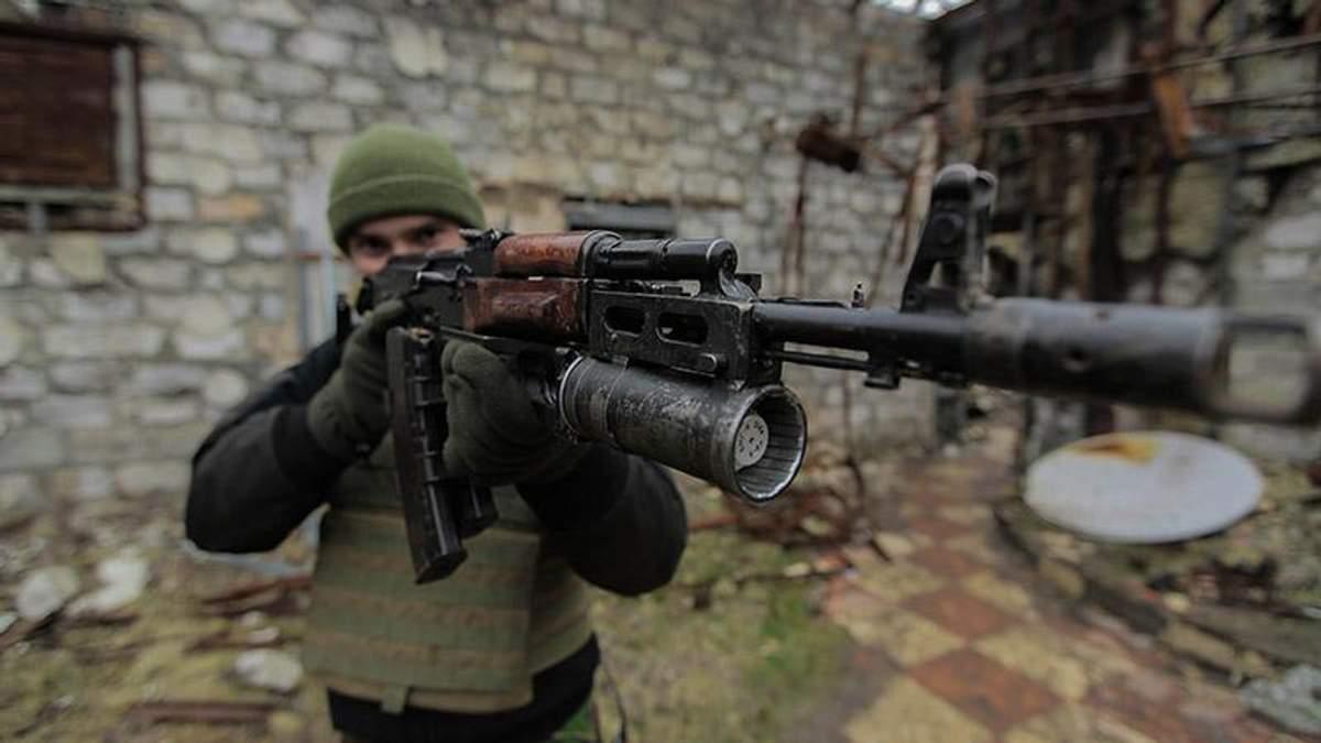 Украинский военный в зоне АТО