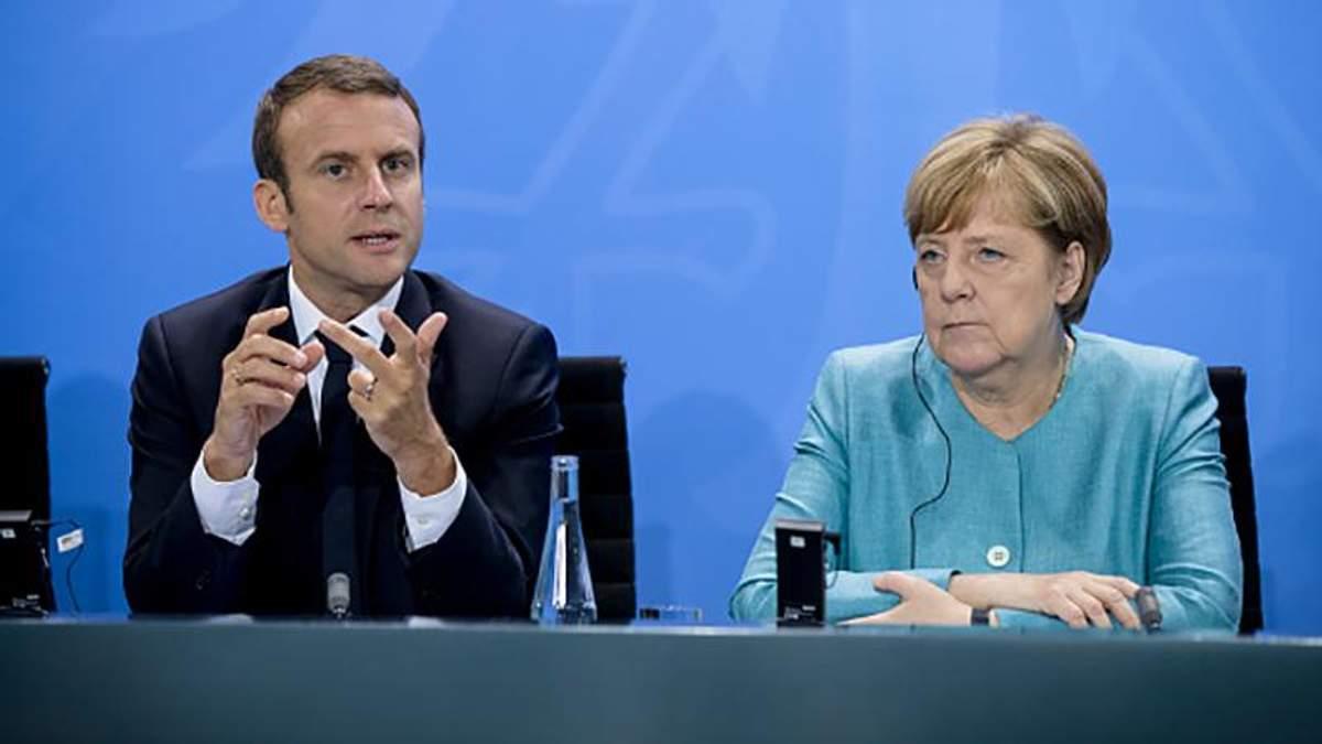 Макрон і Меркель: заява про припинення вогню на Донбасі