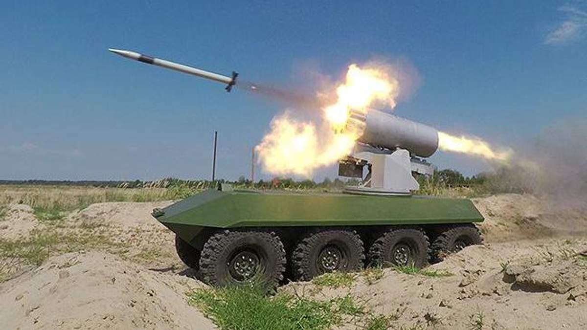 """На що здатні БТР """"Фантом""""-2 та ракетний комплекс """"Стугна-П"""": ефектне відео випробувань"""