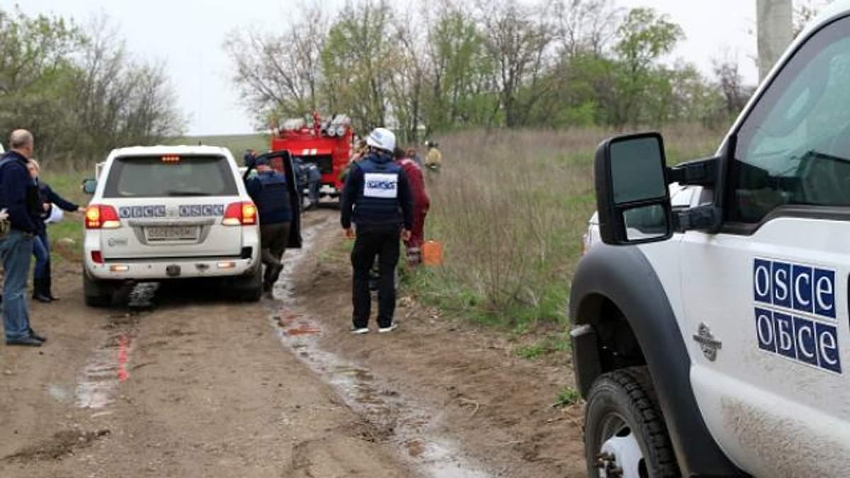 Боевики в Донбассе готовят теракты против представителей ОБСЕ