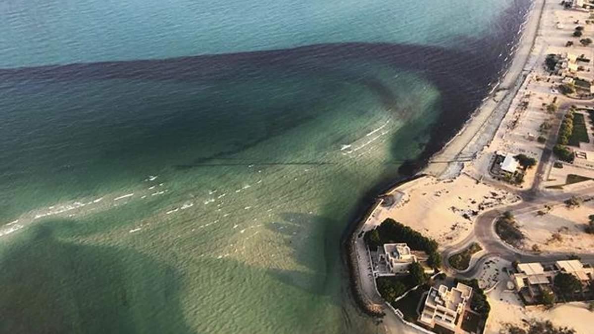 Утечка нефти в море случилась у берегов Кувейта