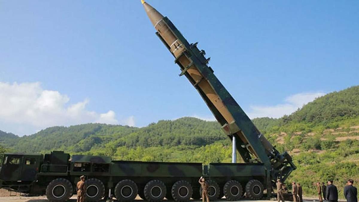 Ракетна установка в КНДР