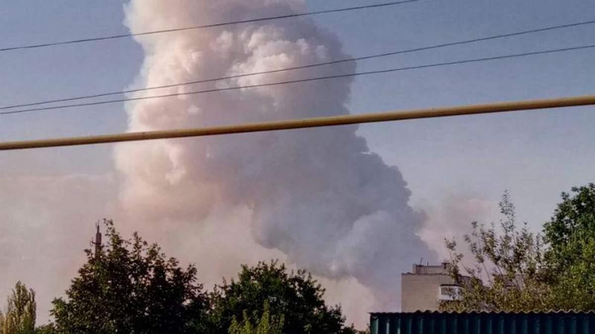 В оккупированном Донецке вспыхнул серьезный пожар