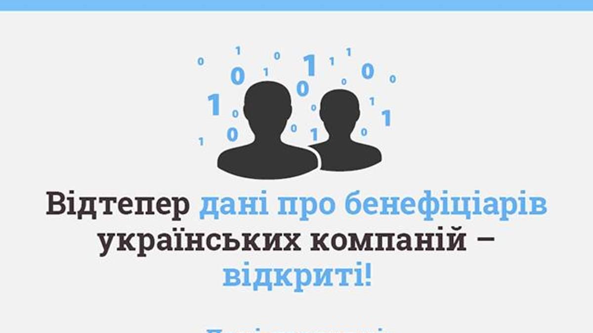 Открыта база данных владельцев всех компаний Украины