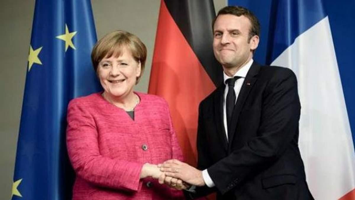 Ангела Меркель і Еммануель Макрон