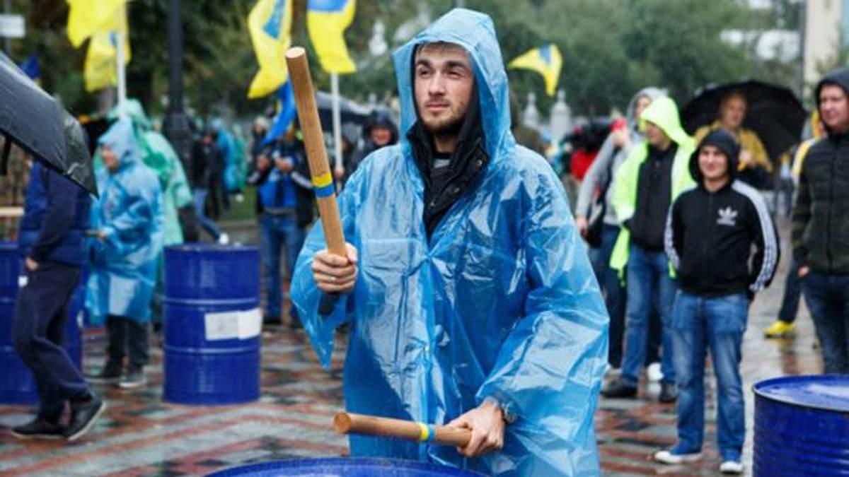 Протест автомобилистов в Киеве с иностранной регистрацией - фото