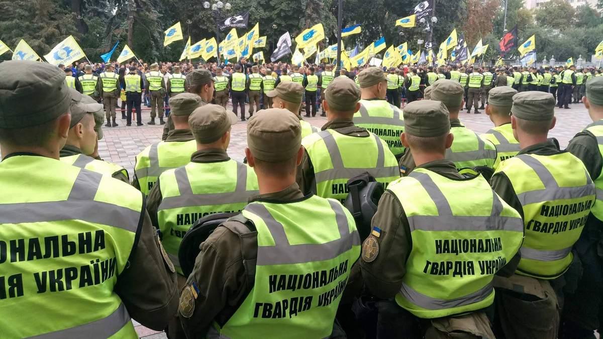Протест автомобилистов в Киеве: схавтка с полицией - видео