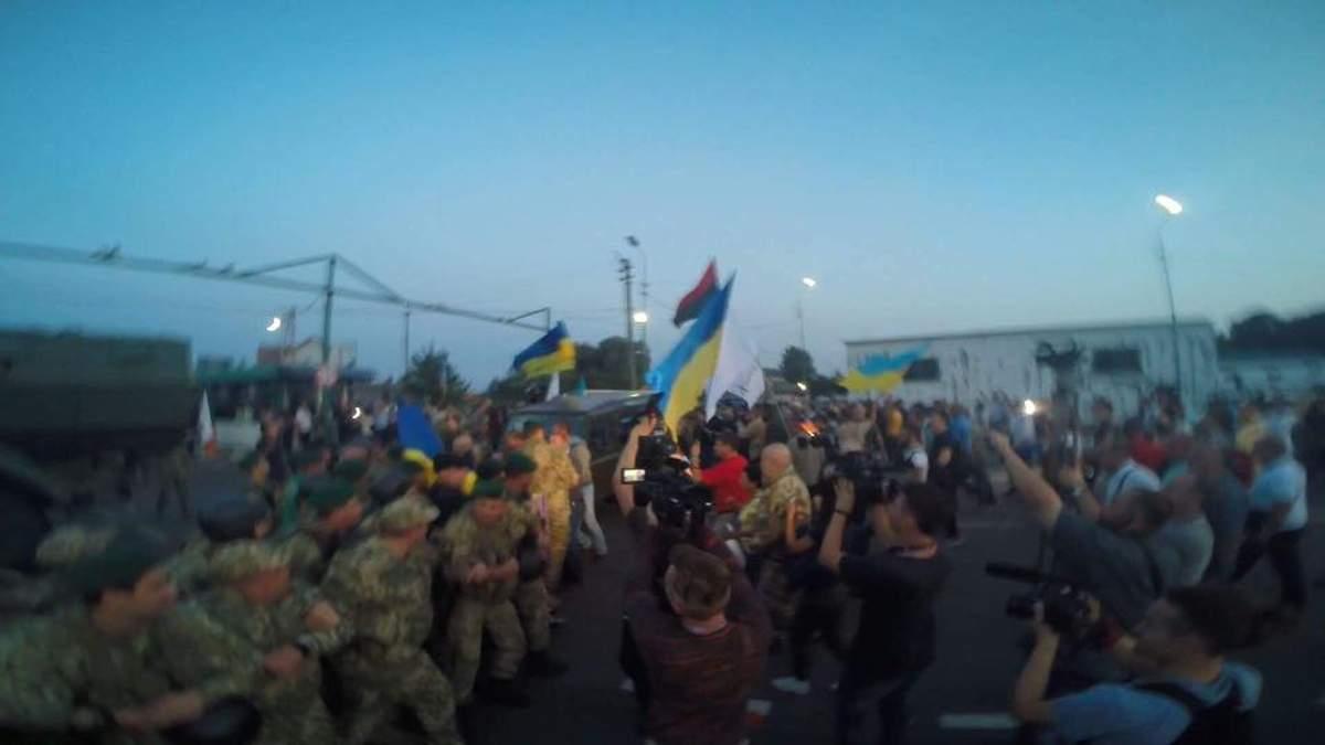Пограничники и полиция отреагировали на ситуацию на границе