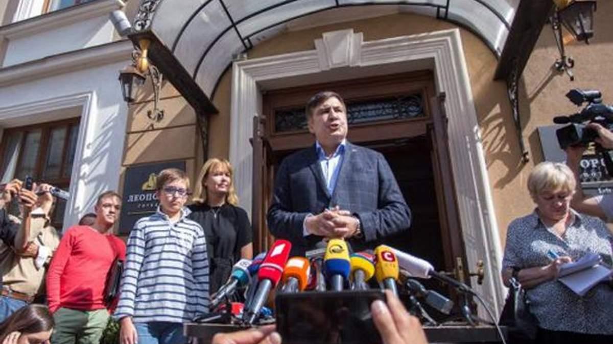 Саакашвили во Львове: о планах и о визите правоохранителей