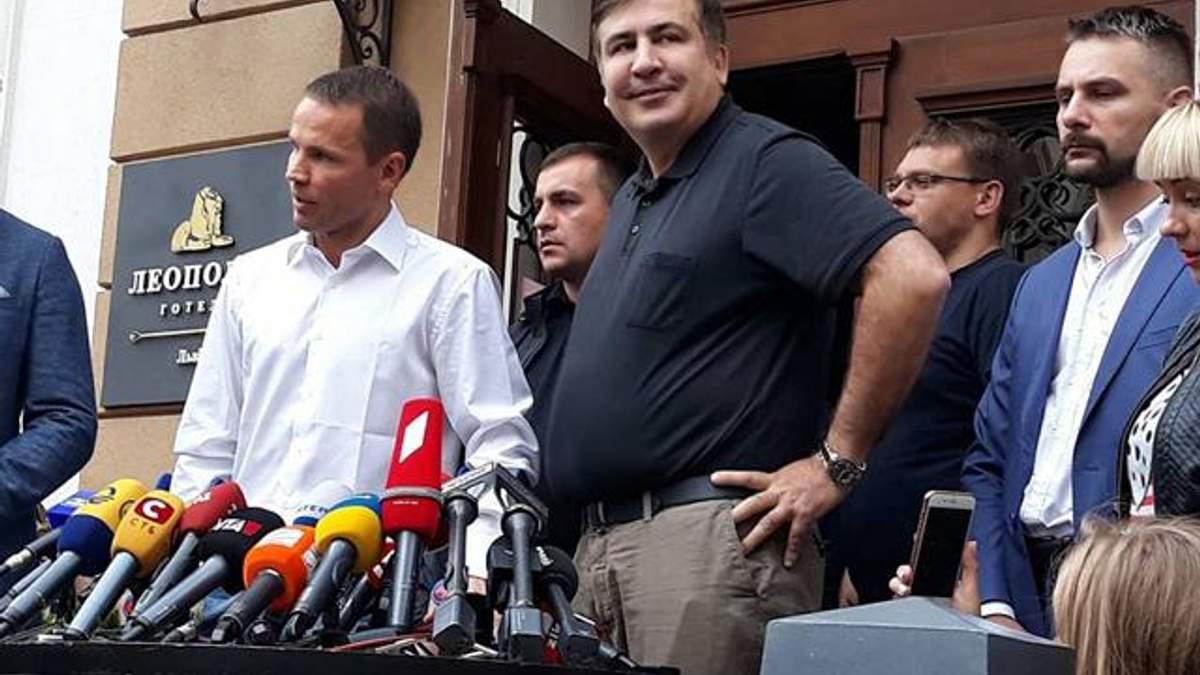 Саакашвили заявил, что его украинский паспорт у Порошенко