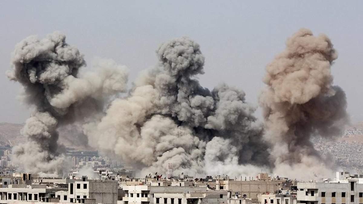 В Сирии авиаудар России убил много людей
