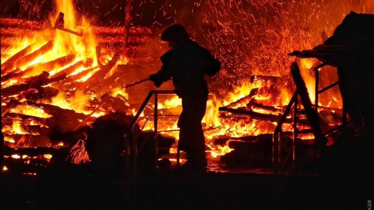 Пожар в лагере Одессы: погибли дети