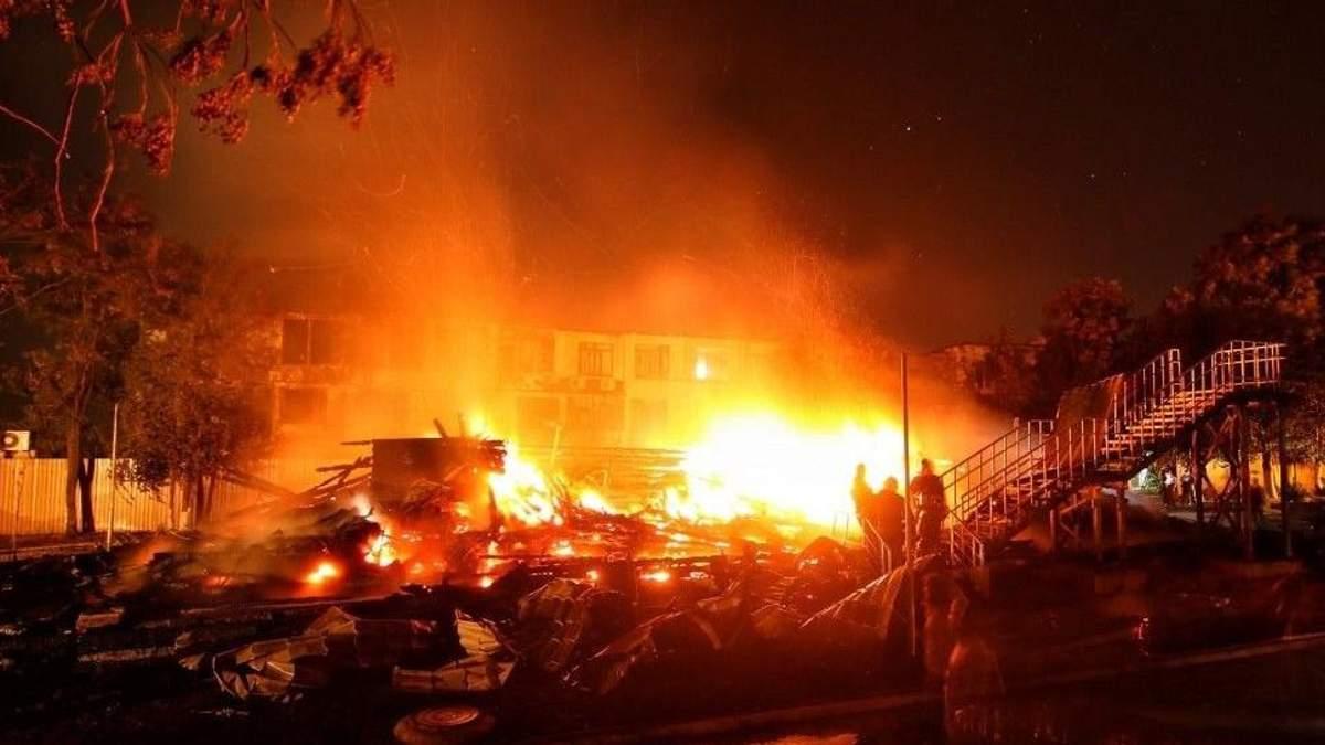 """Пожежа у таборі """"Вікторія"""": двом посадовим особам оголошено підозру"""