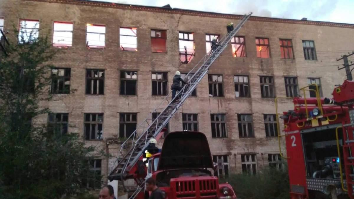 У Дніпрі горіла будівля дитячого реабілітаційного центру
