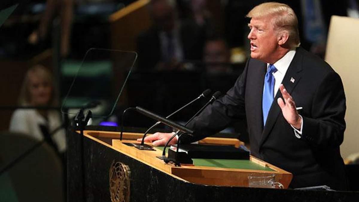 Трамп став на захист суверенітету України під час виступу на Генасамблеї ООН