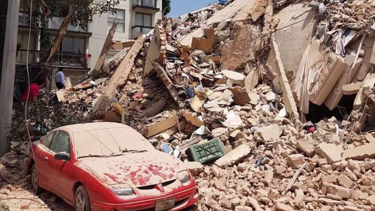 Землетрясение в мексике сейчас фото