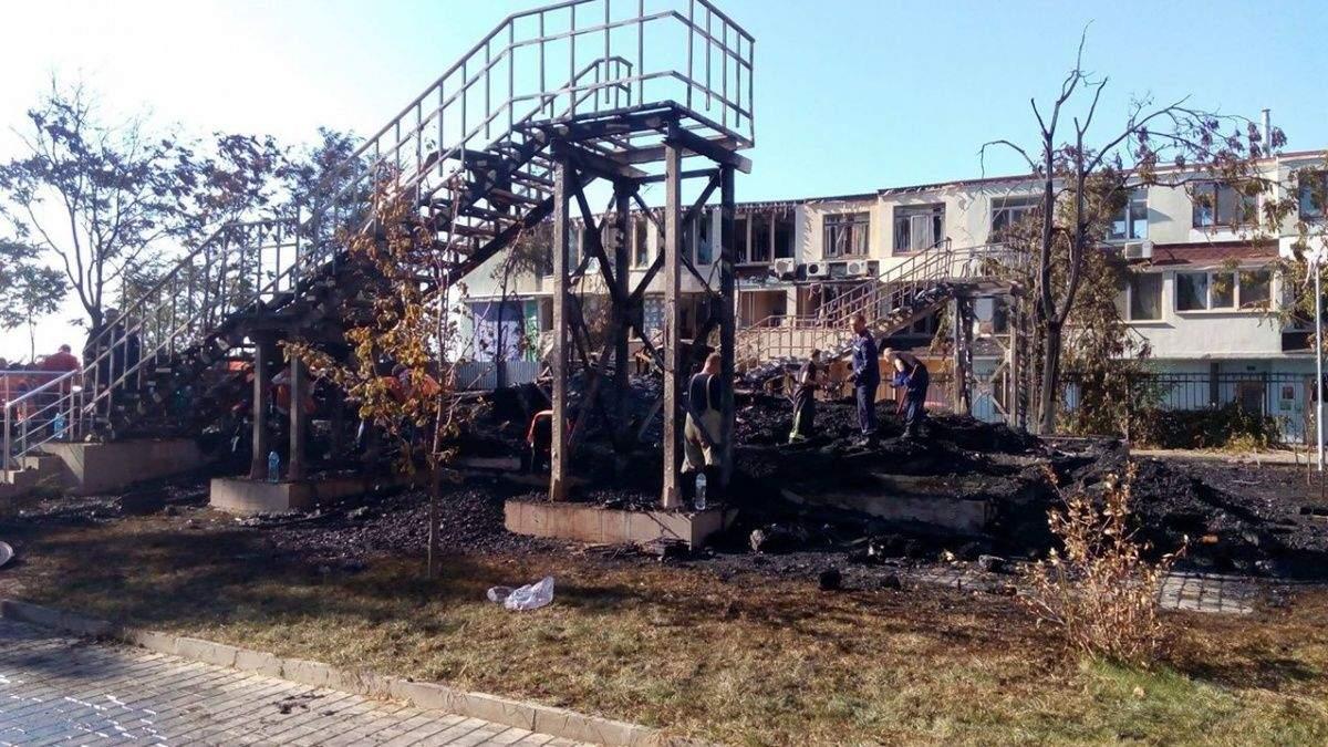 """Пожар в лагере Одессы: суд арестовал все имущество """"Виктории"""""""