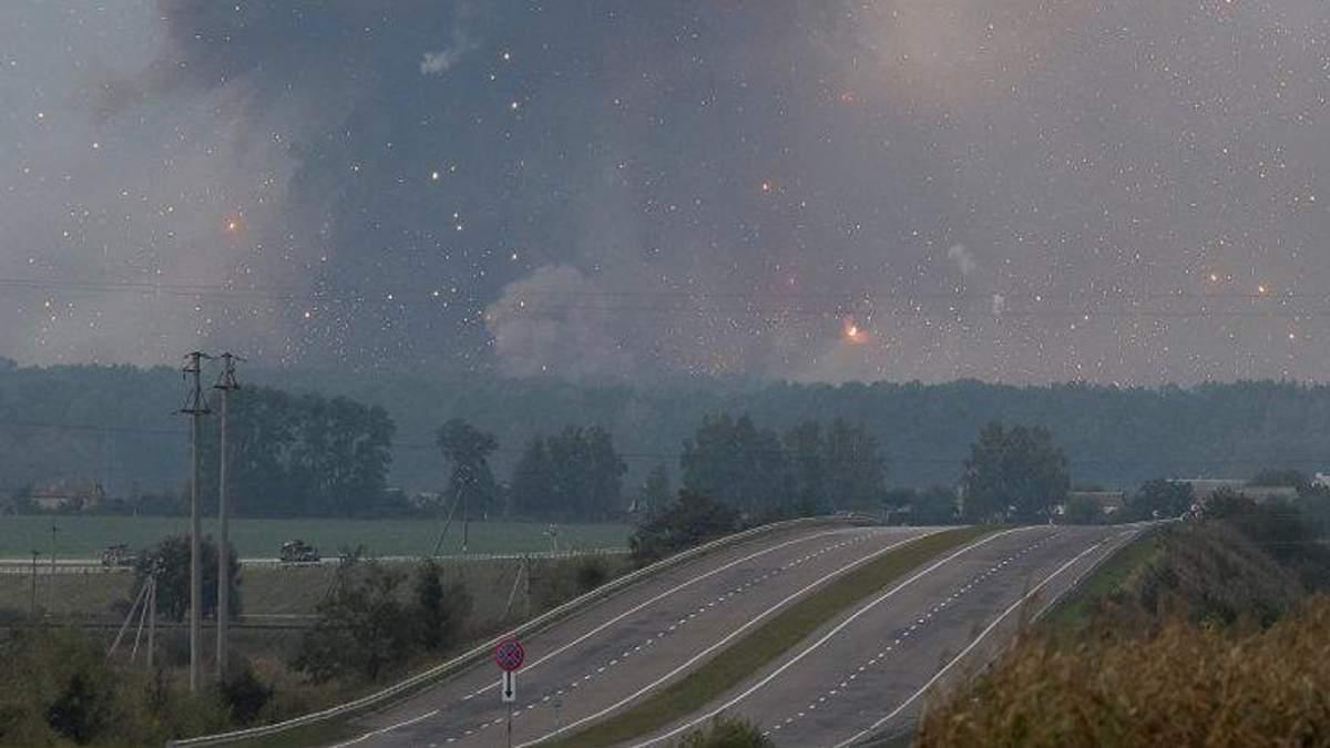 Взрывы на артскладах в Калиновке
