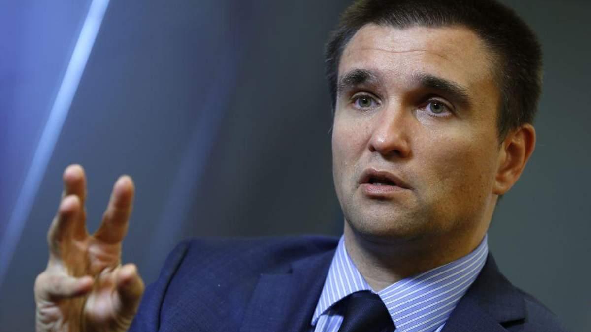 """Клімкін поїде до Угорщини через скандал довкола українського закону """"Про освіту"""""""