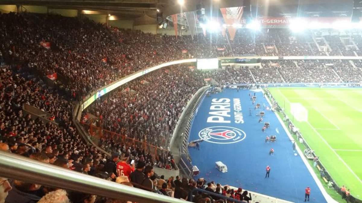 """Стадион """"Парк де Пренс"""" вмещает 48 тысяч зрителей"""