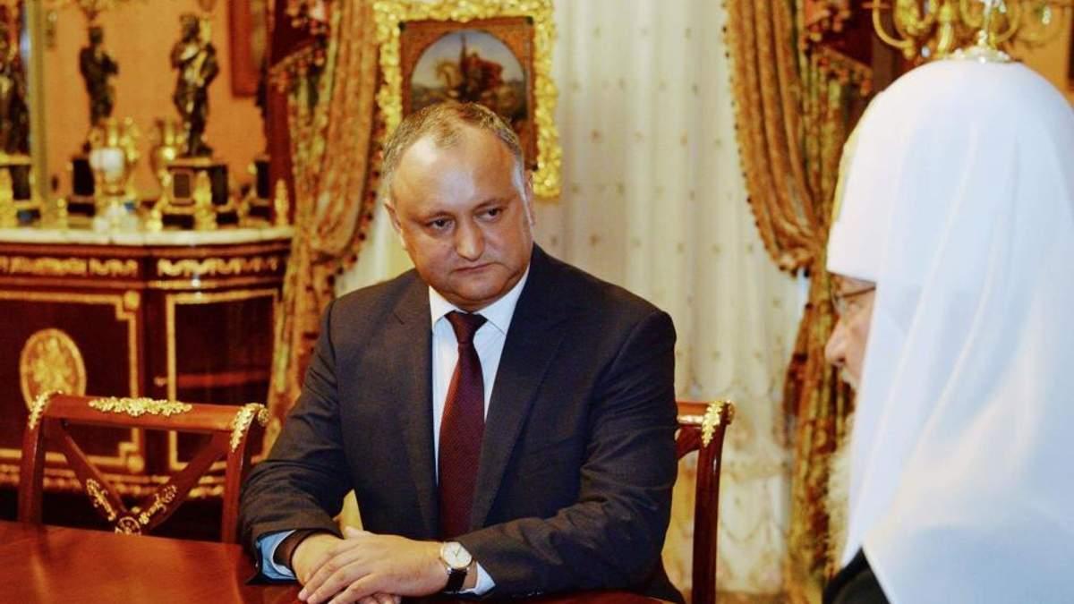 Патріарх Кирило сказав, що моя влада дана Богом, – президент Молдови