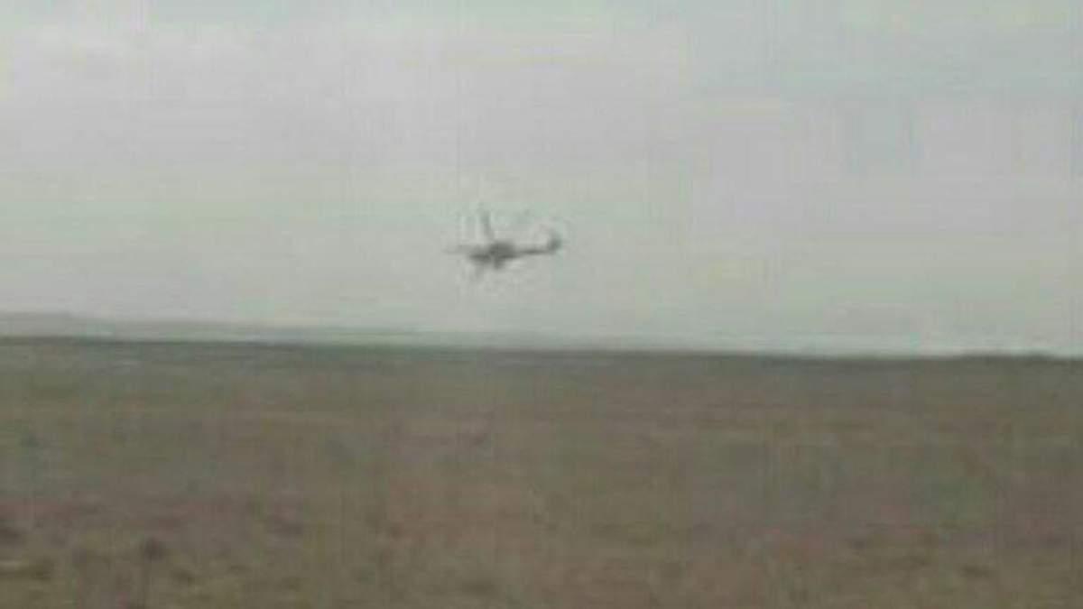 Падіння російського гелікоптера