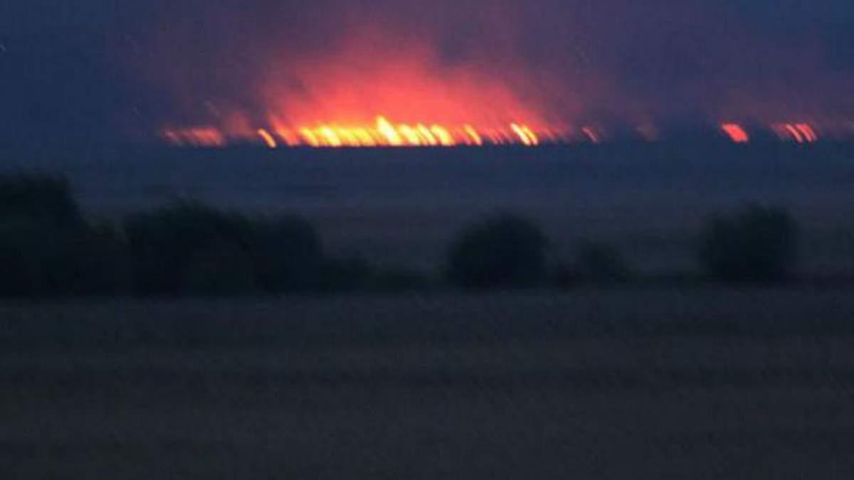 Пожежа у Нижньодністровському національному природному парку