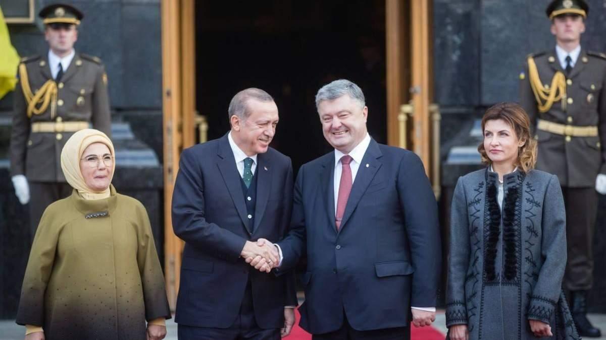 Встреча Реджепа Эрдогана с Петром Порошенко