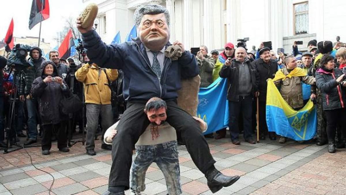"""Протесты под Радой: """"чуйка"""" сейчас подводит Порошенко"""