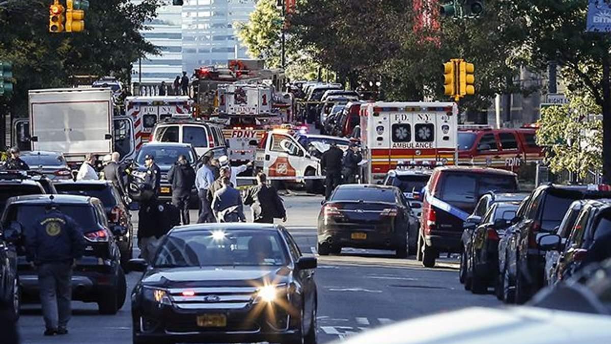 Теракт на Манхэттене в Нью-Йорке