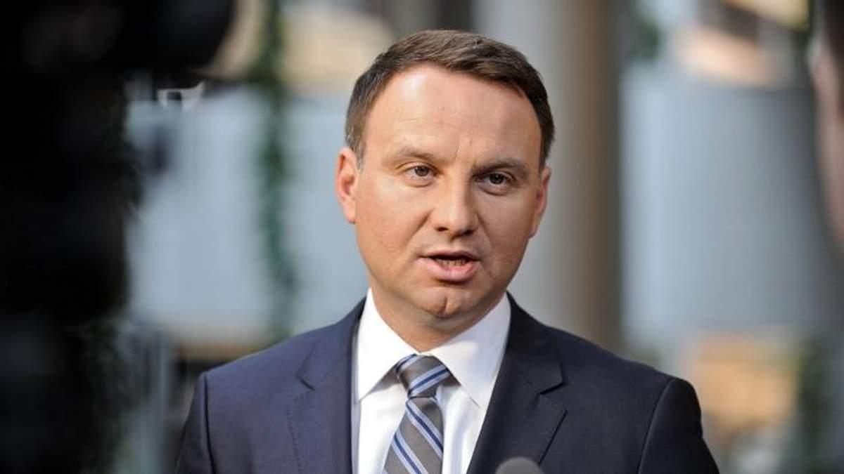 Президент Польщі виступив з різкою заявою на адресу України