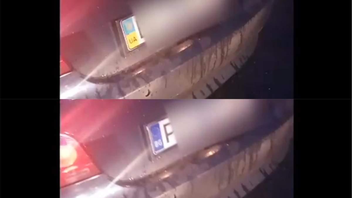 Авто з номерними знаками-трансформерами зупинити одеські патрульні