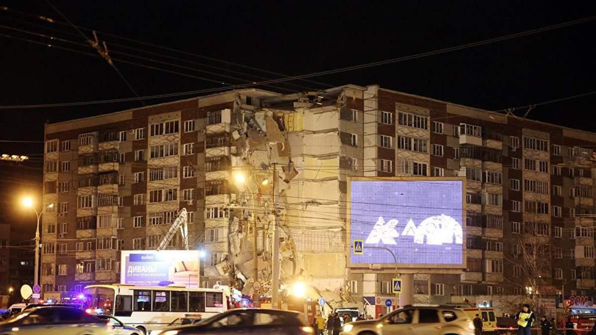 Обвал дома в Ижевске