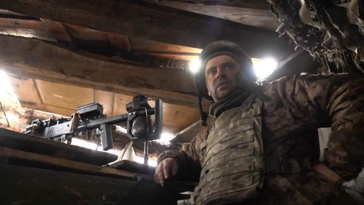 На Східному фронті без змін: один з найкращих кулеметників зони АТО