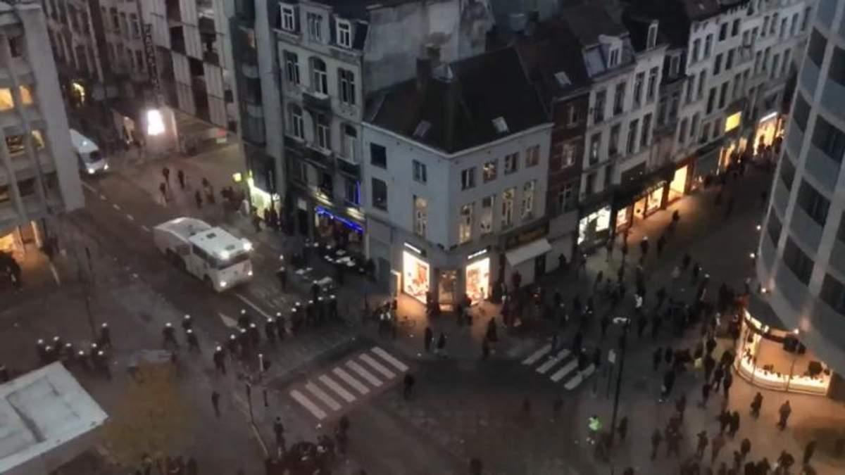 Бельгийская полиция задержала более 30 участников массовых беспорядков в Брюсселе