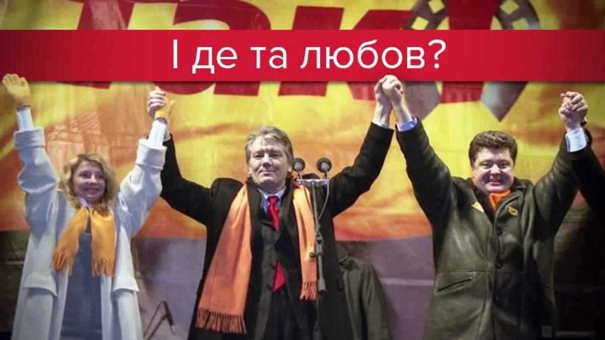 Вот так вместе выступали Тимошенко, Ющенко и Порошенко 13 лет назад